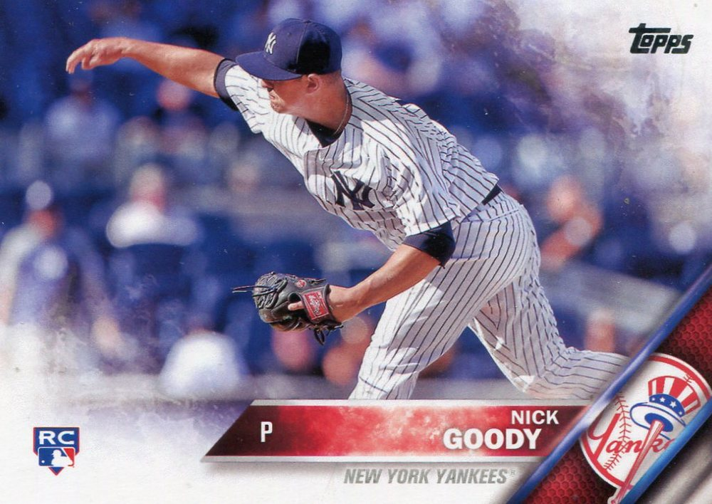 2016 Topps #547 Nick Goody Rookie Card -- Indians post-season