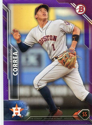 Photo of 2016 Bowman Purple #30 Carlos Correa 141/250