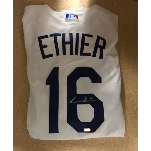 LA Dodgers Foundation Memorabilia Menu: Andre Ethier Authentic Autographed Jersey