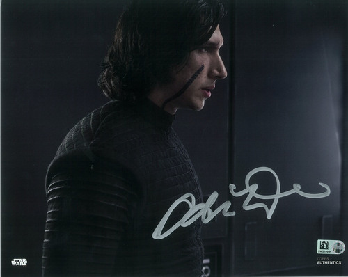 Adam Driver as Kylo Ren 8x10 Autographed in Silver Ink Photo