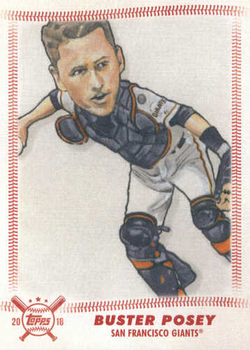 Photo of 2018 Topps Big League Star Caricature Reproductions #SCRBP Buster Posey