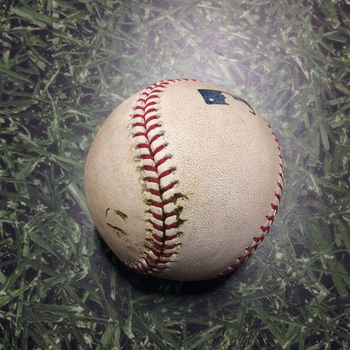 Photo of Game-Used Baseball SD@MIL 08/07/18 - Chase Anderson - Cory Spangenberg: Single