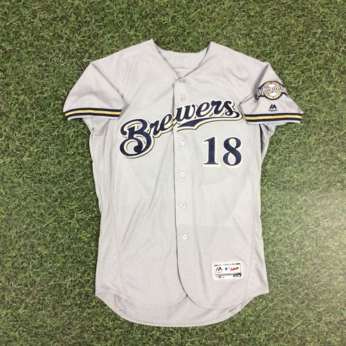 Photo of Eric Sogard 2018 Game-Used Opening Day Jersey