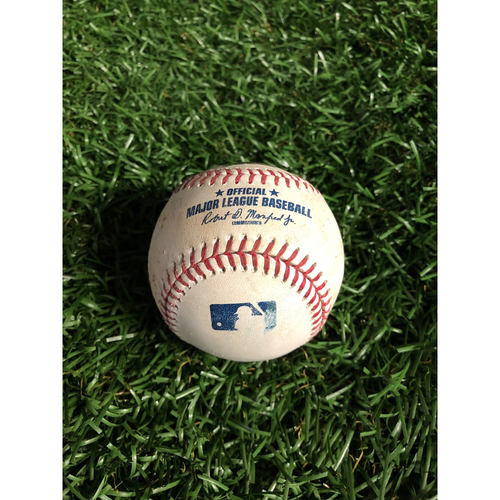 Photo of Game Used Baseball: Gleyber Torres single off Yonny Chirinos - May 11, 2019 v NYY