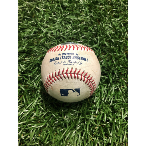 Photo of Game Used Baseball: Rafael Devers 2RBI double off Jalen Beeks - July 22, 2019 v BOS