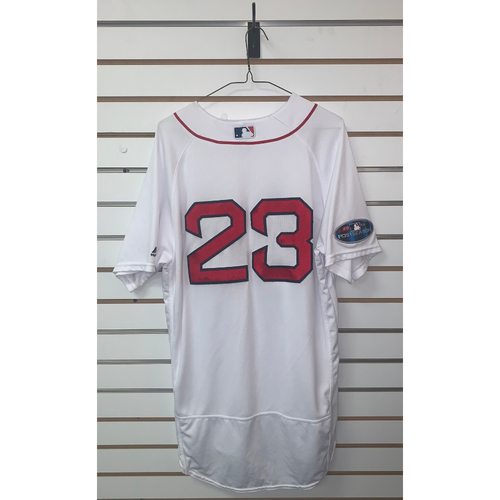 Photo of Blake Swihart Game Used April 5, 2018 Home Jersey