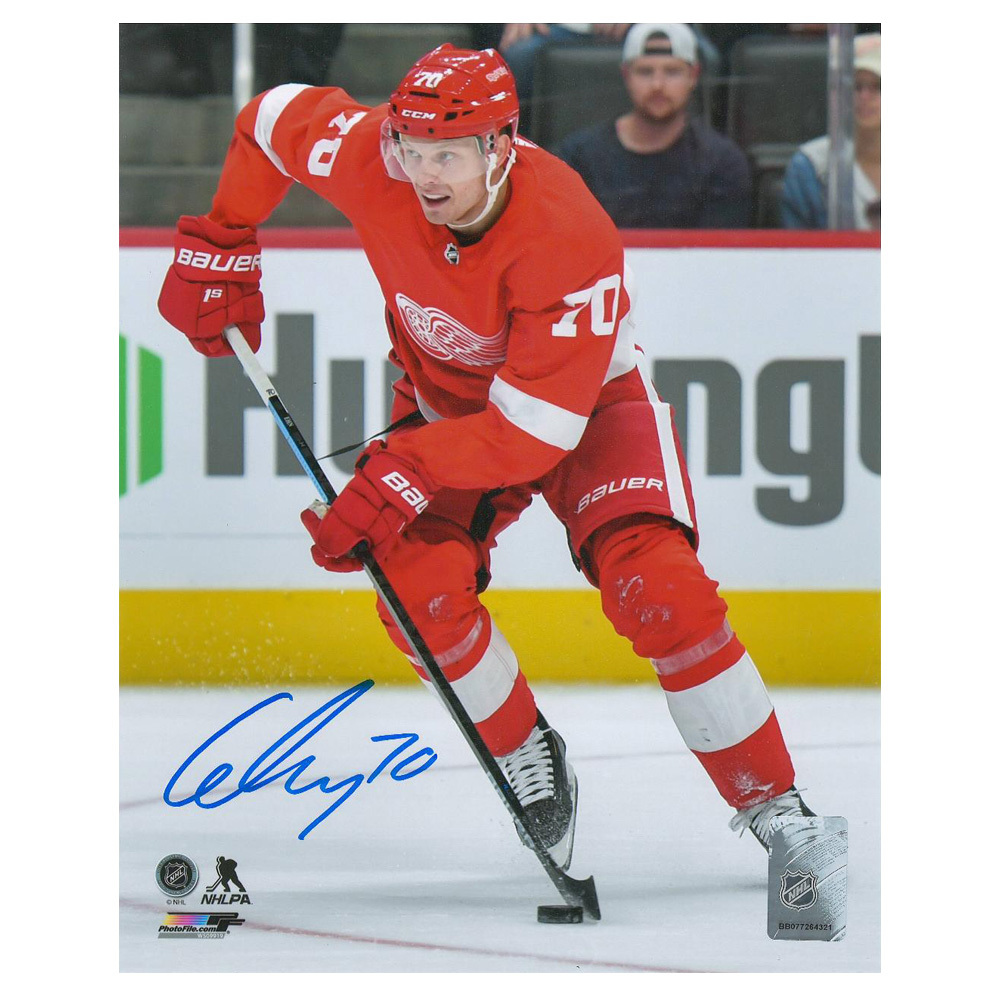 CHRISTOFFER EHN Signed Detroit Red Wings 8 X 10 Photo - 70466