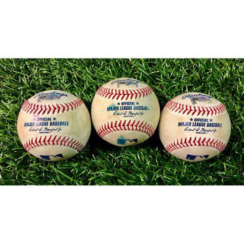 Photo of Game Used Baseball Package: J.D. Martinez, Alex Verdugo and Jose Peraza - August 5, 2020 v BOS