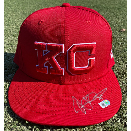 Photo of Autographed/Team-Issued Monarchs Hat: Vance Wilson #25 (STL @ KC 9/22/20) - Size 7 3/8