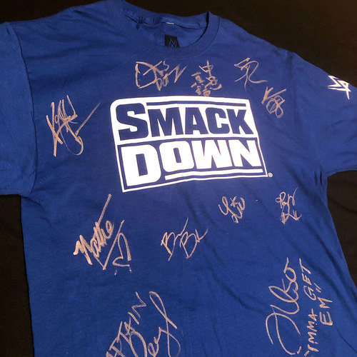 Photo of SIGNED Team SmackDown Shirt