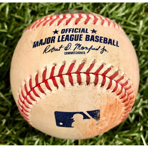 Photo of Game Used Baseball: Lewis Brinson double off Aaron Slegers - September 5, 2020 v MIA