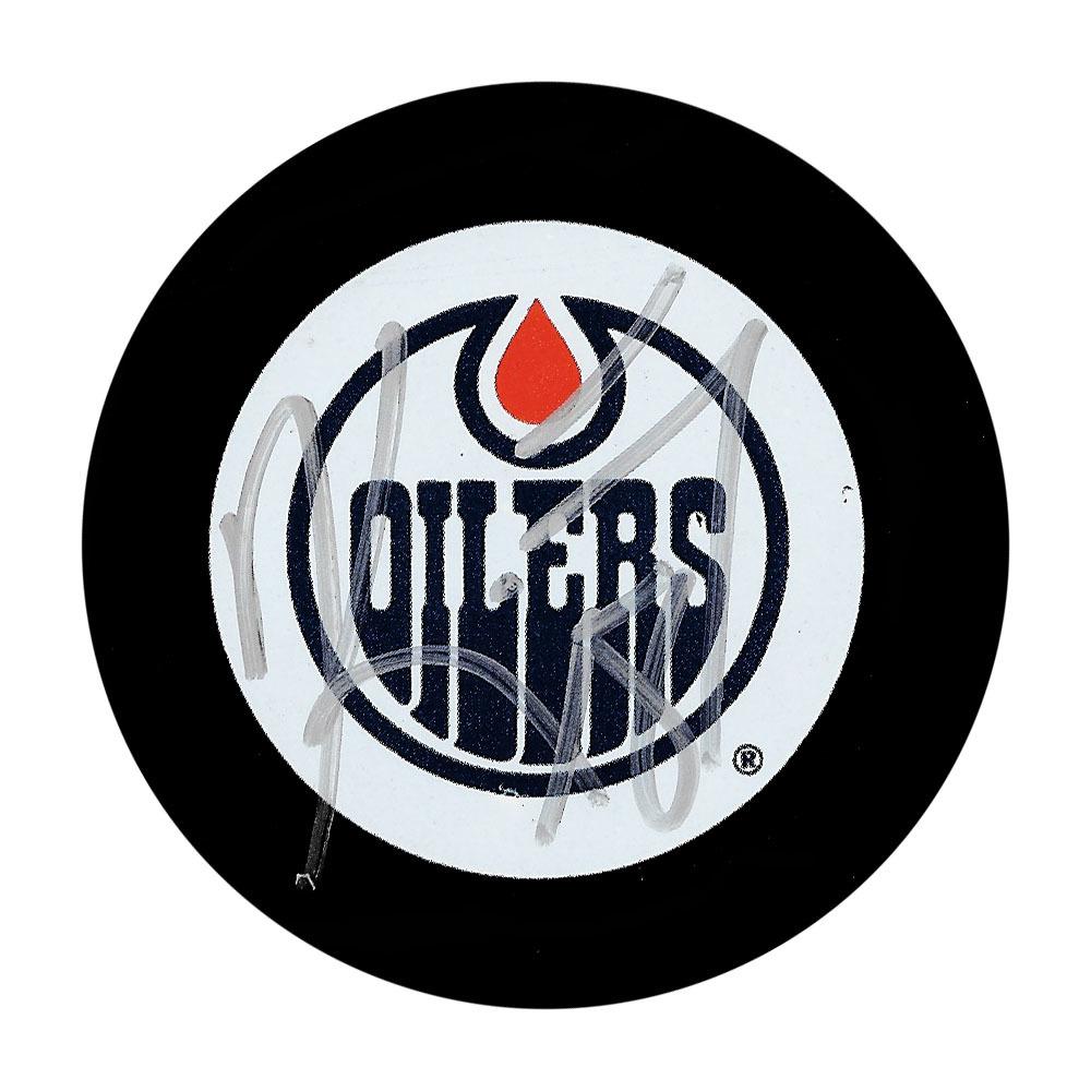 Kirk Maltby Autographed Edmonton Oilers Puck