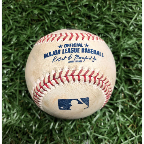 Photo of Opening Day Game Used Baseball: Jake Marisnick fly out off Blake Snell (First Career Opening Day Start) - Top 5- March 28, 2019 v HOU