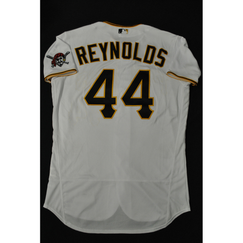 Photo of Hank Aaron Chasing the Dream Foundation: Bryan Reynolds 2021 MLB All-Star Workout Day BP-Worn # 44 Jersey
