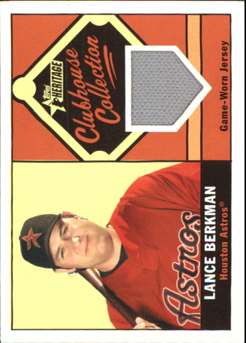 Photo of 2010 Topps Heritage Clubhouse Collection Relics #LB Lance Berkman