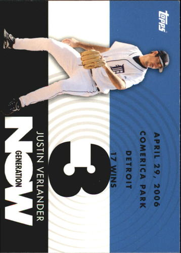 Photo of 2007 Topps Generation Now #GN285 Justin Verlander