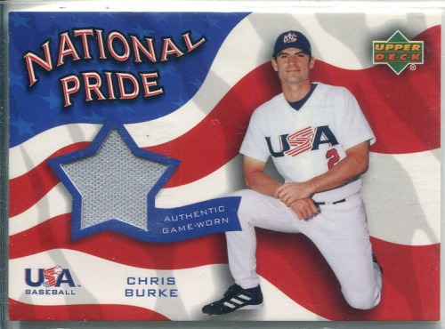 Photo of 2004 Upper Deck National Pride Memorabilia 2 #CBP Chris Burke Jersey