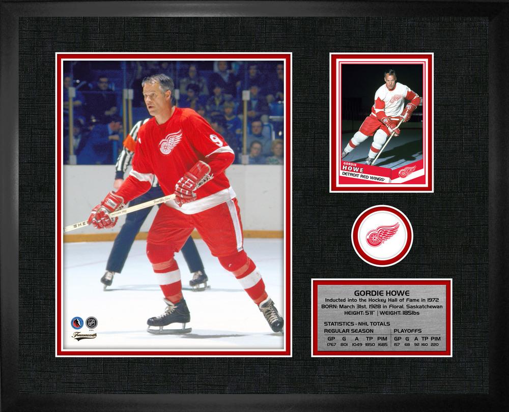 Gordie Howe - Framed PhotoCard Detroit Red Wings