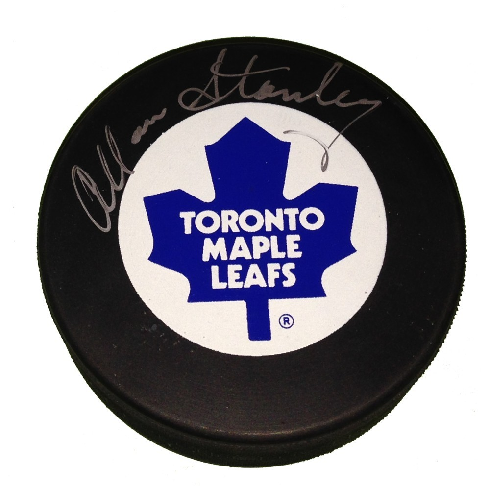 Allan Stanley (deceased) Autographed Tronto Maple Leafs Puck