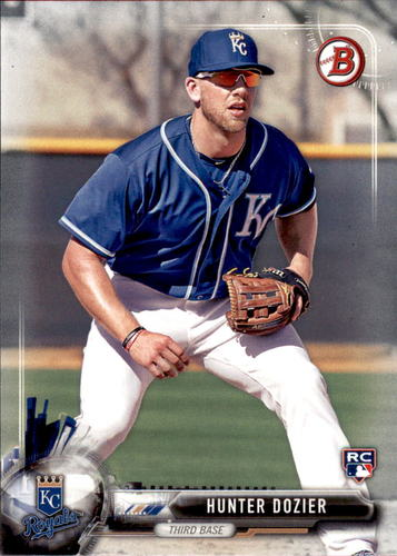 Photo of 2017 Bowman #63 Hunter Dozier Rookie Card