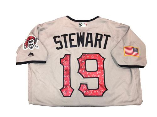 Chris Stewart Game-Used Road Gray Stars and Stripes Jersey