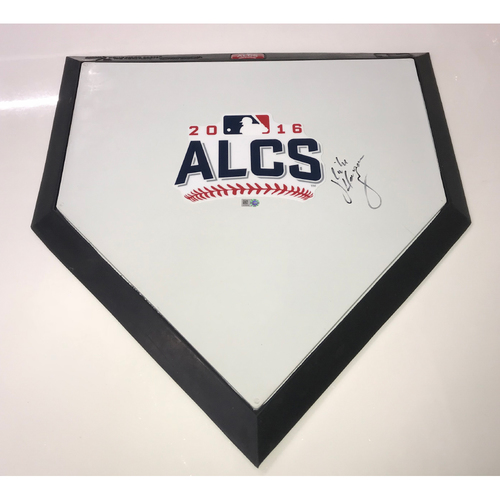 Photo of Mike Hargrove Autographed 2016 ALCS Commemorative Home Plate