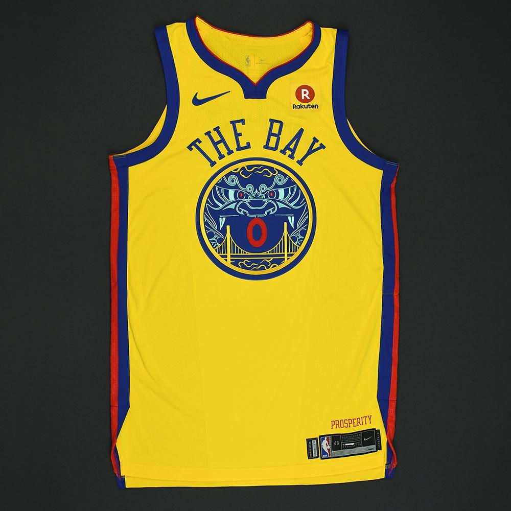 Patrick McCaw - Golden State Warriors - Game-Issued City Jersey - 2017-18 Season