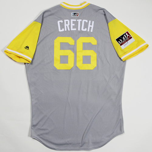 "Photo of Robert ""Cretch"" Stock San Diego Padres Game-Used 2018 Players' Weekend Jersey"