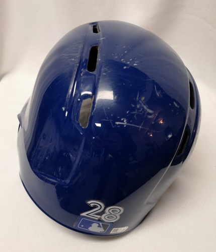 Photo of Authenticated Game Used Helmet - #28 Steve Pearce (April 24, 18: 0-for-2 with 1 Run and 1 BB). Size 7 1/4.