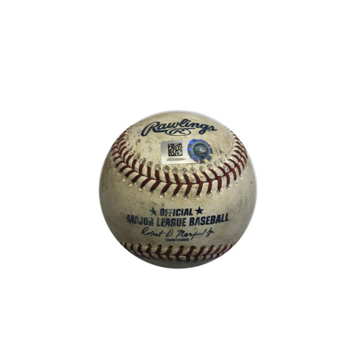 Photo of Game-Used Baseball: 9/4/2018 Pirates vs. Reds: Marte K, Frazier Double, Polanco Single