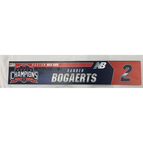 Photo of Xander Bogaerts Game Used April 28, 2019 Locker Tag