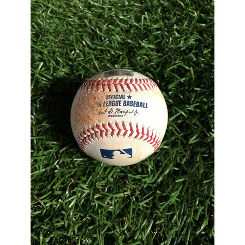 Photo of Game Used Baseball: Thairo Estrada strikeout and Austin Romine double off Blake Snell - May 12, 2019 v NYY