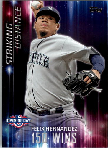 Photo of 2016 Topps Opening Day Striking Distance #SD7 Felix Hernandez