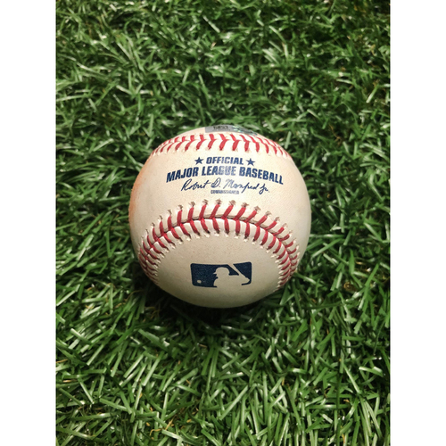 Photo of Game Used Baseball: Xander Bogaerts double, J.D. Martinez RBI double & Christian Vazquez single off Michael Brosseau - July 22, 219 v BOS