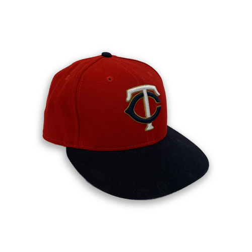 Photo of Minnesota Twins 2019 Team-Issued Home Red Cap - Choose Your Number and Size!