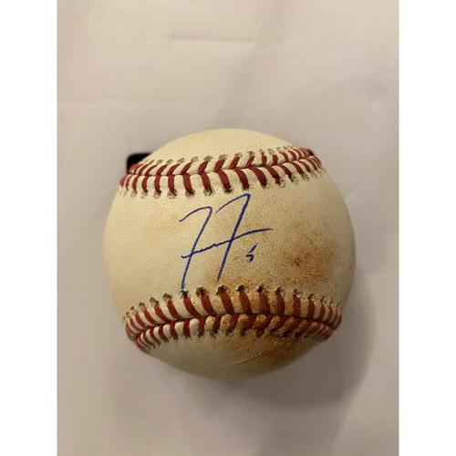 Photo of Freddie Freeman Autographed 2018 Hit Single Baseball - 7/31/18