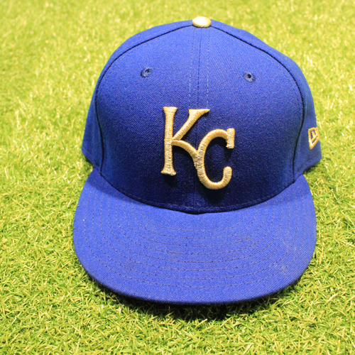 Photo of Game-Used 2020 Gold Hat: Ryan McBroom #9 (Size 7 1/2 - DET @ KC 9/25/20)