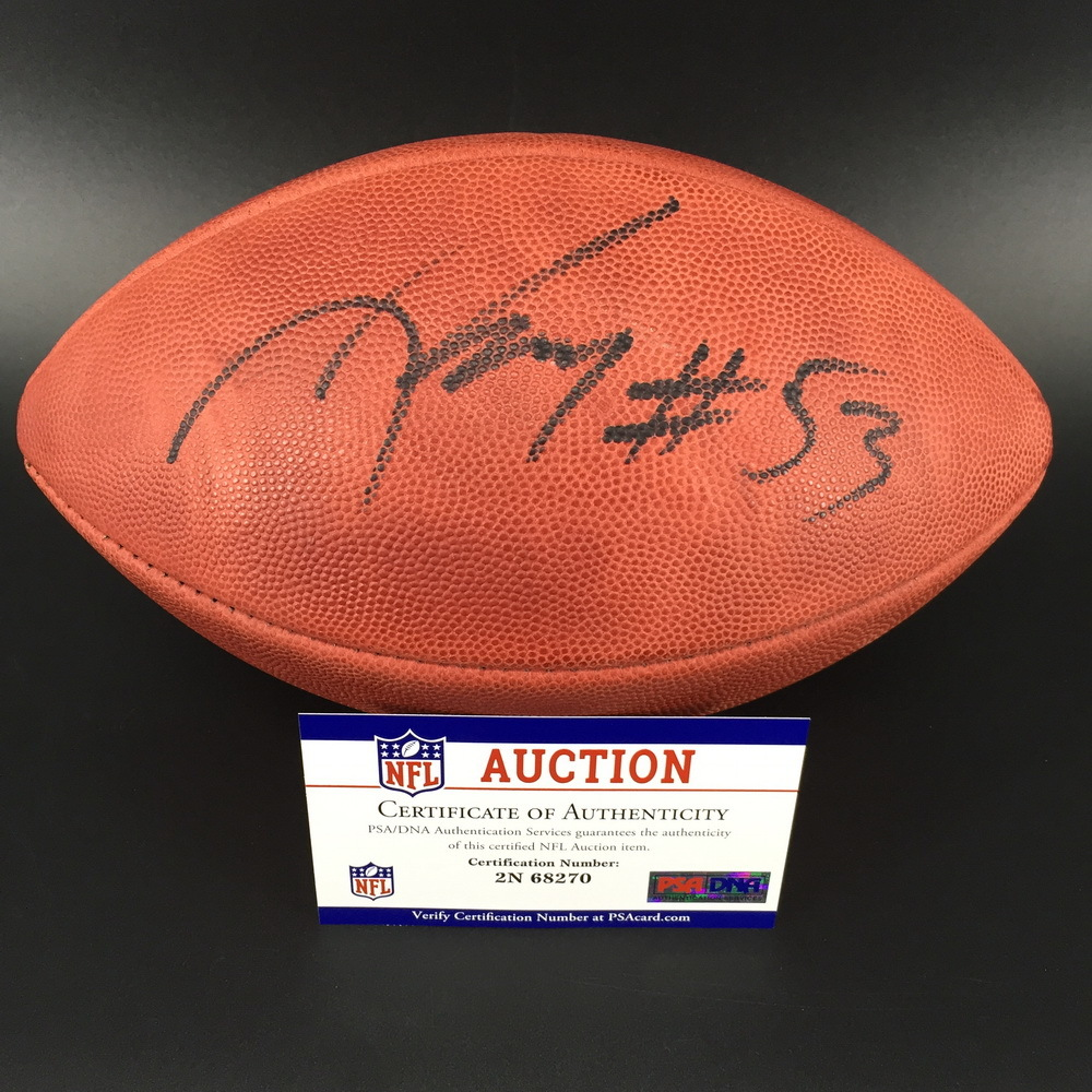 PCF - Packers Nick Perry Signed Game Issued Football