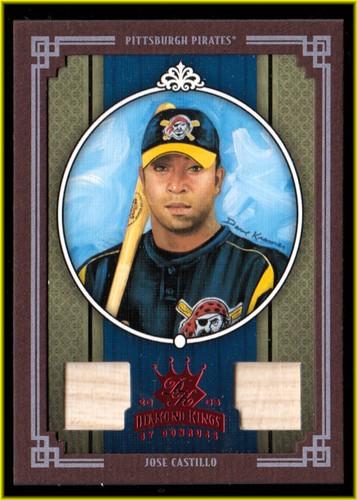 Photo of 2005 Diamond Kings Materials Framed Red #181 Jose Castillo Bat-Bat/100