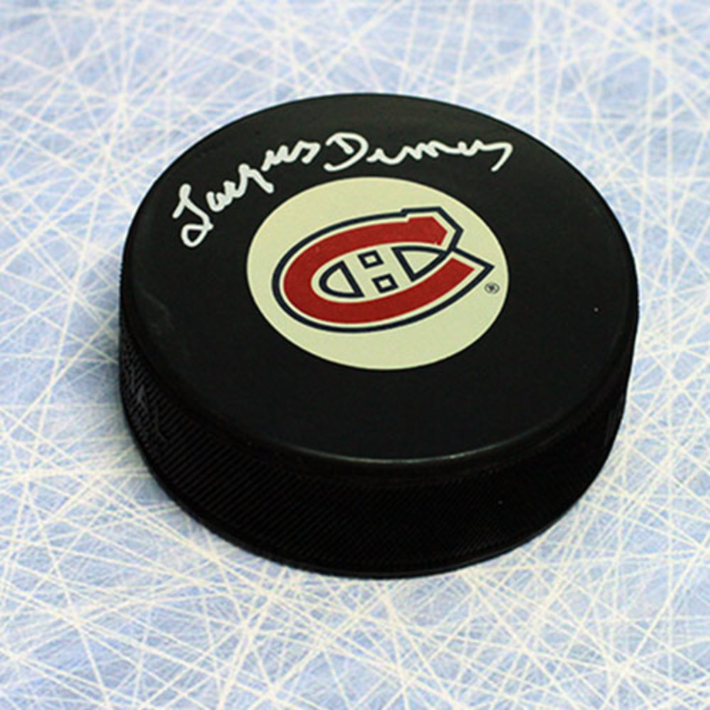 Jacques Demers Montreal Canadiens Autographed Hockey Puck