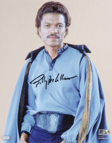 Billy Dee Williams as Lando Calrissian 8x10 Autographed In Black Ink Photo