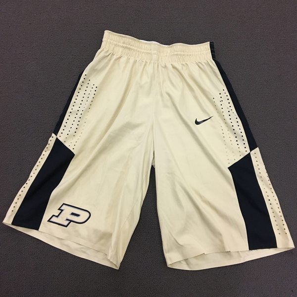 Photo of Purdue Men's Basketball Gold 2015-16 Nike Game Shorts Size 40 Length +4