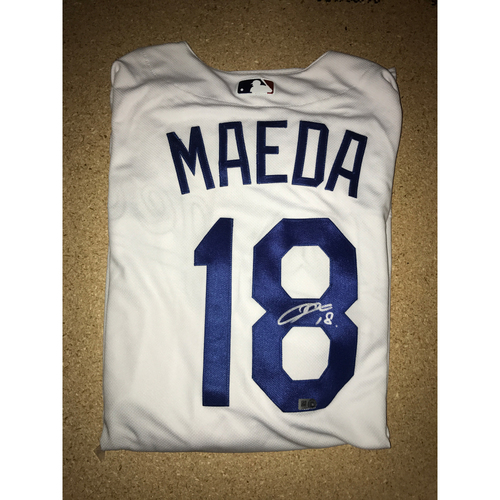 Photo of LA Dodgers Foundation Memorabilia Menu: Kenta Maeda Authentic Autographed Jersey
