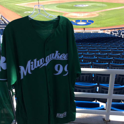 Photo of Cody Beckman 2018 Team-Issued St. Patrick's Day Jersey