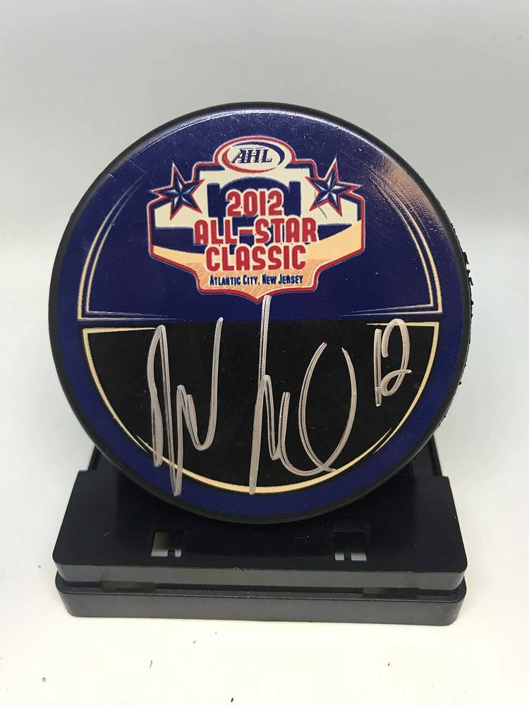 2012 AHL All-Star Classic Souvenir Puck Signed by #12 Boyd Kane