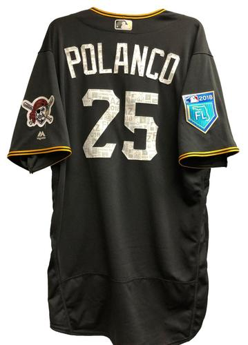 Photo of Gregory Polanco Team-Issued 2018 Spring Training Jersey