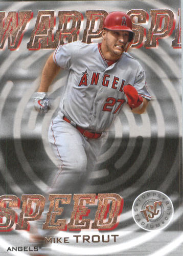 Photo of 2019 Stadium Club Warp Speed #WS9 Mike Trout