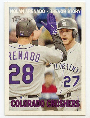 Photo of 2016 Topps Heritage Combo Cards #CC8 Trevor Story/Nolan Arenado