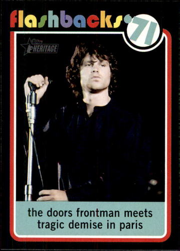 Photo of 2020 Topps Heritage News Flashbacks #NF9 Jim Morrison dies at 27