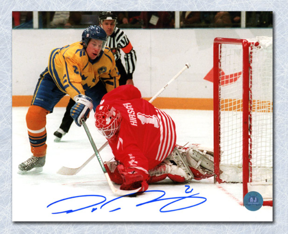Peter Forsberg Team Sweden Autographed 1994 Olympic Gold ...